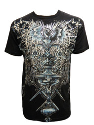 Konflic Men's Graphic Design Stunning Dragon Bird Grail MMA T Shirt