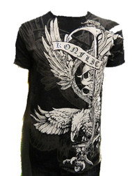 Wing Spade Eagle Crew Neck Cotton Men's Fashion T Shirt