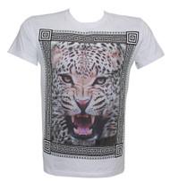 Konflic Fierce Leopard Framed Muscle T-Shirt