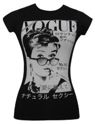 Audrey Hepburn Vogue Japan Junior Womens T-Shirt