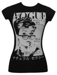 Audrey Hepburn Vogue Japan Junior Womens T-Shirt