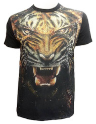 Konflic Roaring Tiger Muscle T-Shirt - Black