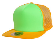 TopHeadwear Adjustable Trucker Caps - Orange/Neon Green