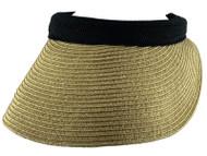 Top Headwear Braided Toyo Clip-on Visor