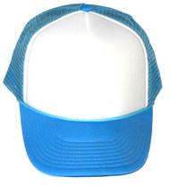 Vintage 2 Tone Foam Trucker Hat Cap , Light Blue