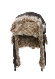 Faux Fur Trimmed Soft Warm Trooper Hat