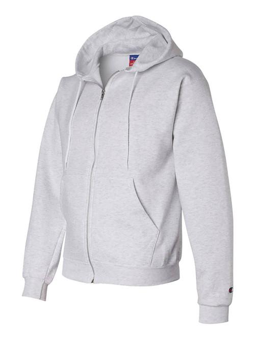 Champion Adult 50/50 Full-Zip Hooded Sweatshirt, Ash