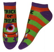 Candy Corn Trick Or Treat Cyclops Ankle Socks