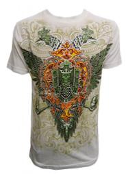 Konflic Men's Double Headed Eagle Skull T Shirt