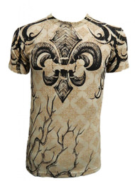 Konflic Men's Rooted Spade Angel Wing Graphic Fashion MMA T Shirt