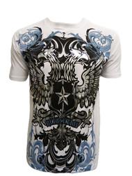 Konflic Men's Double Headed Revolution Bird Graphic Fashion MMA T Shirt