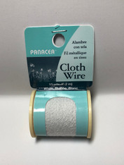 Cloth Covered Spool Wire 32 Gauge White