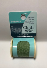 Cloth Covered Spool Wire 32 Gauge Green
