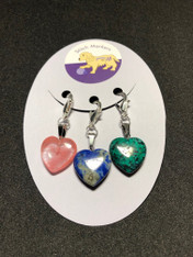 Stitch Markers-Heart Rocks