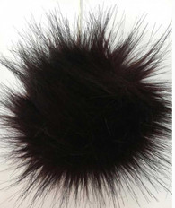Pompom-Faux Fur-Black