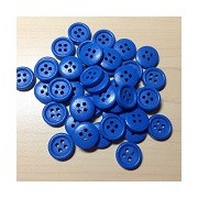 Wooden Button Blue