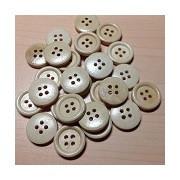 Wooden Buttons Light Golden