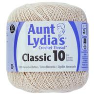 Aunt Lydia  Crochet Cotton Size 10-Ecru