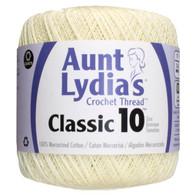 Aunt Lydia Crochet Cotton Size 10-Cream