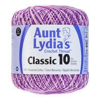 Aunt Lydia Crochet Cotton Size 10-Shaded Purples