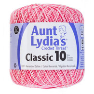 Aunt Lydia Crochet Cotton Size 10-Shaded Pinks
