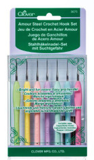 Clover Amour Steel Crochet Hook Set-0.6-1.75mm