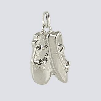 Ballet Slipper Charm - Dance Jewelry Silver