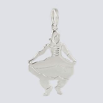 Mother Ginger Girl Charm - Nutcracker Dance Jewelry Silver