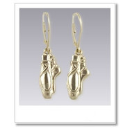 Pointe Shoe Earrings - Gold Dance Jewelry Collection