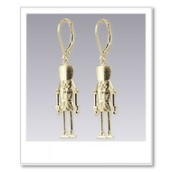 Nutcracker Earrings - Gold