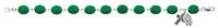 "(920D) 7 1/2"" GREEN SHAMROCK BRACELET"
