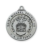 "(AN650AF) ANTIQUE SIL AIRFORCE 24""CH&BX"