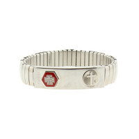 (BR629) MEN'S MEDICAL ID BRACELET