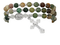 (BR631C) INDIA AGATE TWISTABLE BRACELET