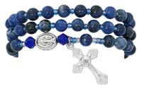 (BR632C) BLUE LAPIS TWISTABLE BRACELET