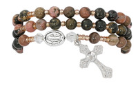 (BR645C) RHODONITE TWISTABLE BRACELET