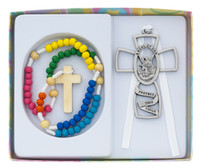 (BS46) KIDDIE ROSARY SET W/GUARDIAN