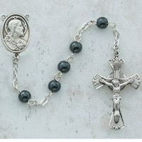 (C14RB) 5MM GENUINE HEMATITE ROSARY