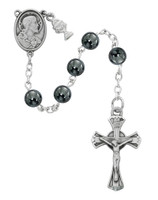 (C69RB) RF 6MM GENUINE HEMATITE ROSARY