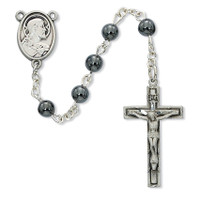 (C88DB) 6MM GENUINE SC COMM ROSARY