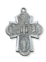 (D2410) PEWTER 4-WAY MEDAL