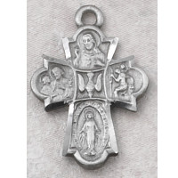 """(D2410C) PEWTER 4WAY MEDAL 24""""CH&CARD"""