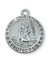 (D313) PEWTER ST CHRISTOPHER MEDAL