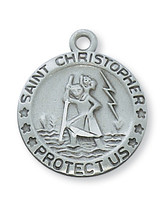 (D313) PEWTER ST CHRISTOPHER MEDAL