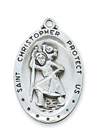 (D336CH) PEWTER ST CHRISTOPHER MEDAL