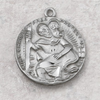 (D356C) PEWTER ST CHRISTOPHER MEDAL