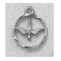 (D369) PEWTER HOLY SPIRIT MEDAL