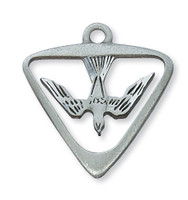 (D396) PEWTER HOLY SPIRIT MEDAL