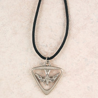 (D396LC) PEWTER HOLY SPIRIT MEDAL WITH