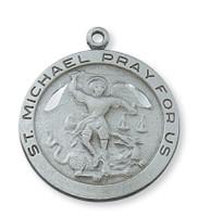 (D420MK) PEWTER ST MICHAEL MEDAL